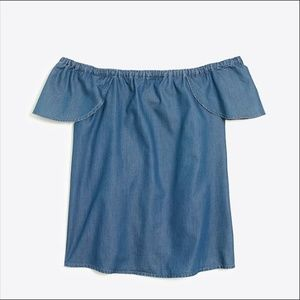 J. Crew Factory | chambray off the shoulder top